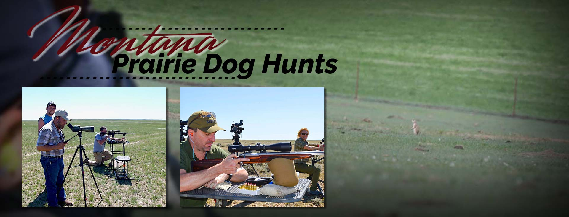 Guided prairie dog hunts with Redbone Outfitting