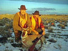 This antelope buck was shot while hunting with Redbone Outfitting.