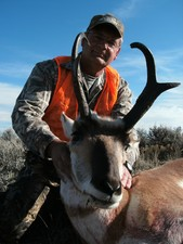 Pronghorn antelope hunts with a hunting guide from Redbone Outfitting of Montana. Antelope hunting in Montana is great in the Missouri Breaks of Montana..