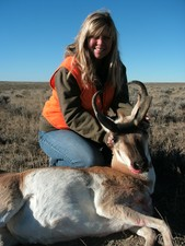 Patti and a 408 yard antelope