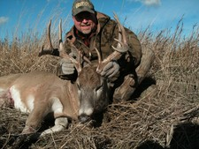 Scott took this deer at 947 yards with his long range rifle.