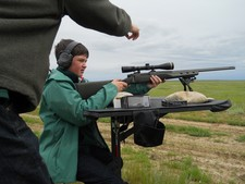 Learn to handle and shoot a gun safely under close supervision, while prairie dog hunting with Redbone Outfitting.