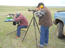 Prairie dog hunting in Montana with Redbone Outfitting.