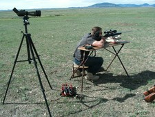 Hunting prairie dogs in Montana is great fun. Long range hunting with long range rifles is a great experience with a hunting guide from Redbone Outfitting.