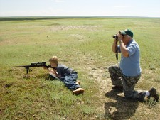 Redbone Outfitting offers a great opportunity for young people to learn to handle and shoot a gun.