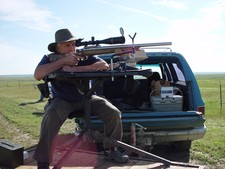 Long range hunting with a long range rifle guided by Redbone Outfitting.