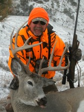 Montana whitetail buck taken while hunting with a Redbone Outfitting hunting guide.